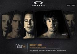 Affrontez grâce à Oakley le golfeur professionnel Rory McIlroy