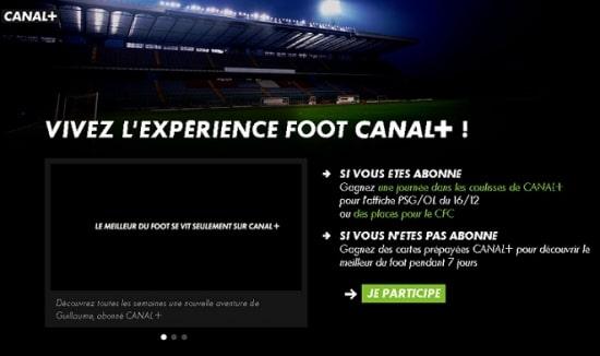 visuel expérience foot canal +