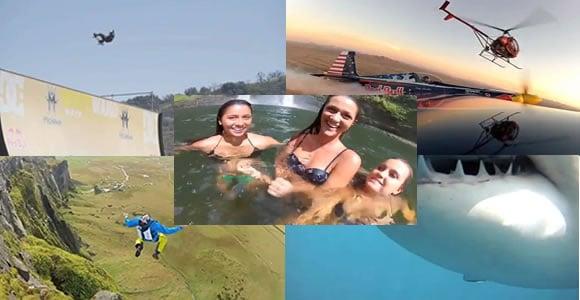 Un montage de vidéos extrêmes 2012 – Redbull & GoPro