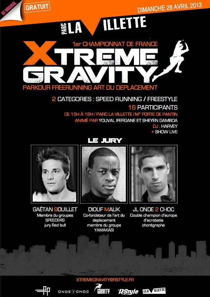 xtrem gravity free running 28 avril 2013 paris