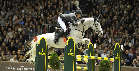 Saut d'obstacles en Equitation jumping