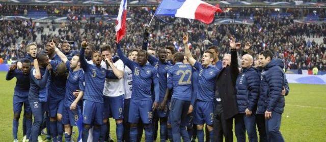 Equipe de France victorieuse