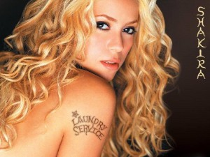 Shakira femme de Gerard Pique au FC Barcelone