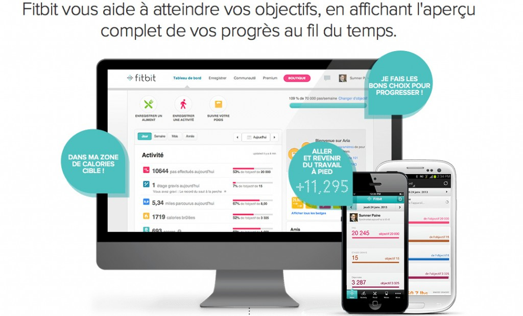 Fitbit iOS et Android