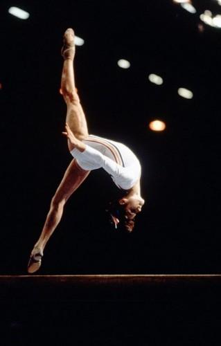 Nadia Comaneci aux JO de Montreal en 1976