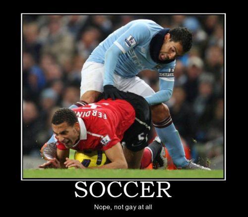 football not gay at all