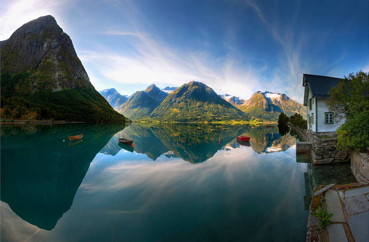 Norvege paysage lac