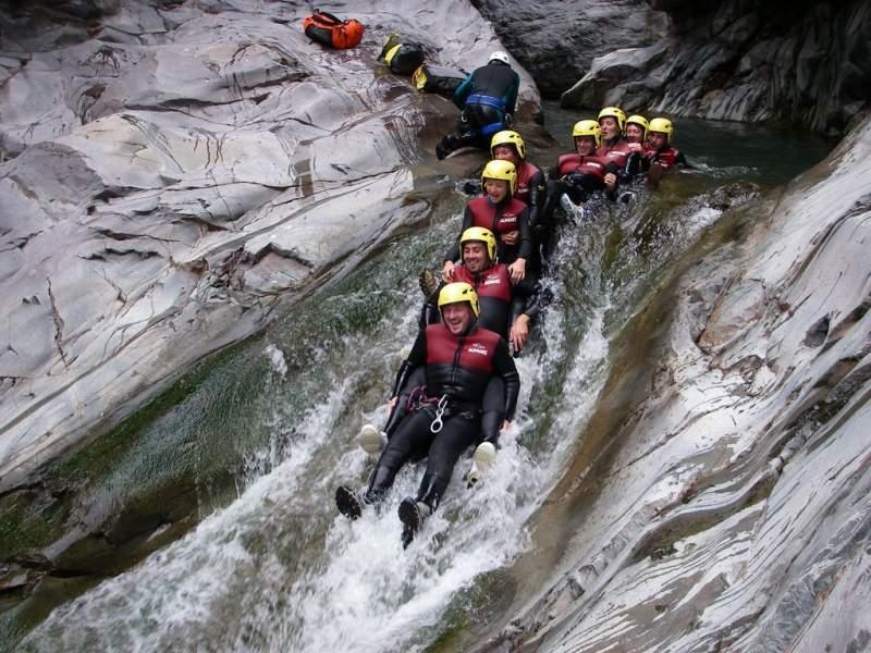 canyoning dans les gorges du Tapoul en lozere