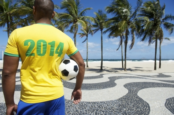 Brazilian soccer player football
