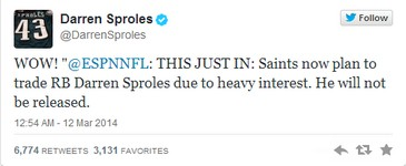 Sproles twitter