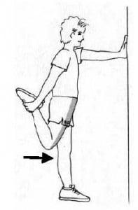 etirement quadriceps