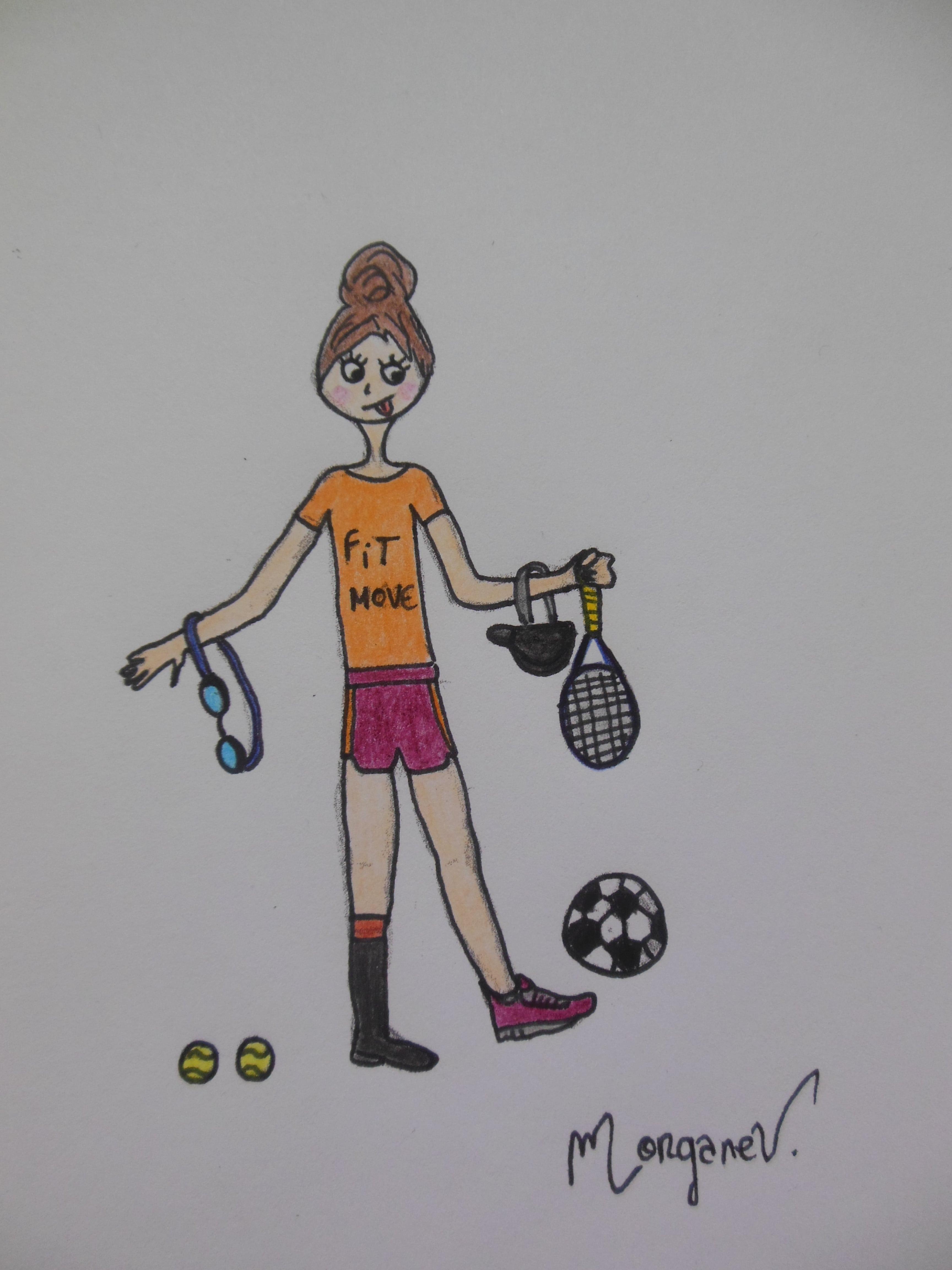 Illustration sexy sport