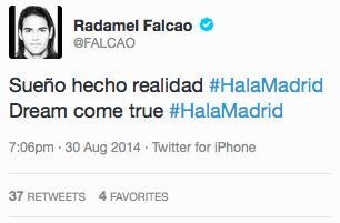 Falcao, direction Madrid ?