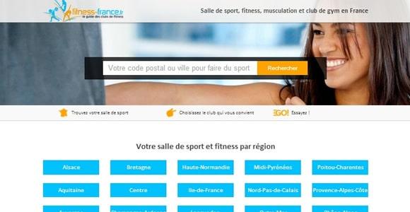 moteur de recherche de salles de fitness