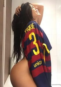 miss bum bum football sexy maillo pique