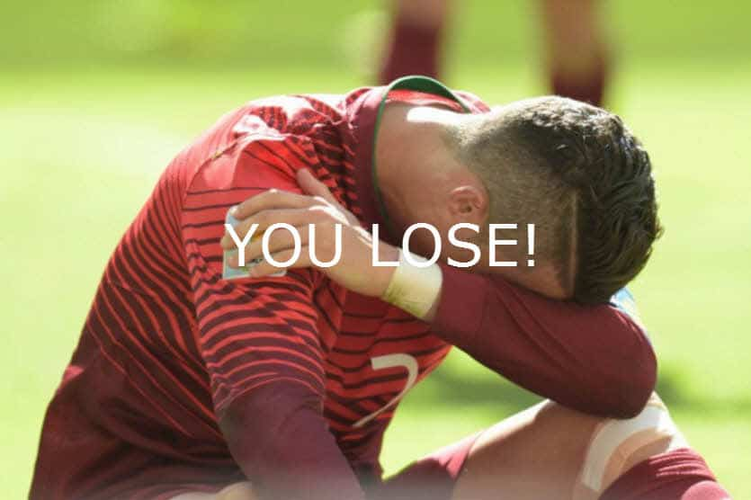 Portugal you lose euro 2016