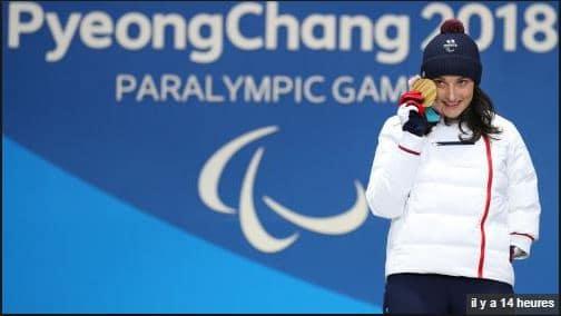 Médailles d'OR Marie Bochet Jeux Paralympiques