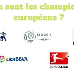 Où en sont les championnats européens ?